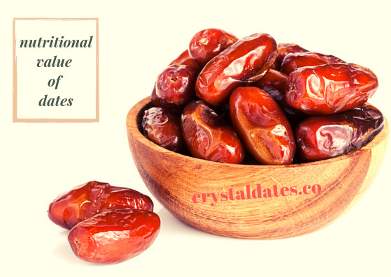 The nutritional value of dates
