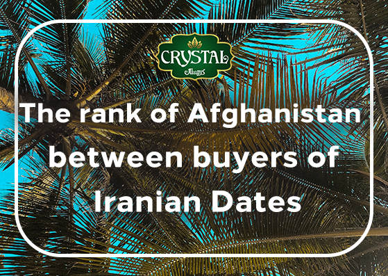 The rank of Afghanistan between buyers of Iranian Dates