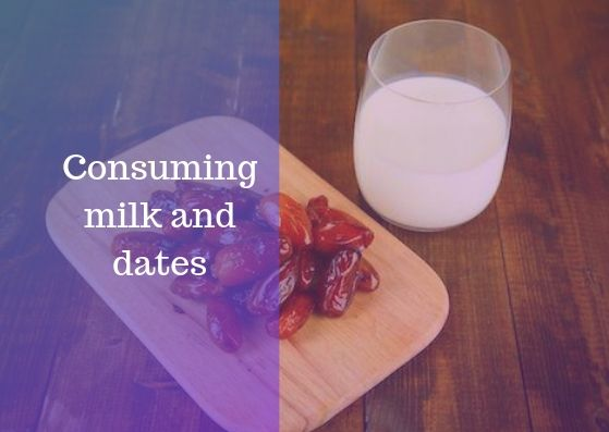 Consuming milk and dates