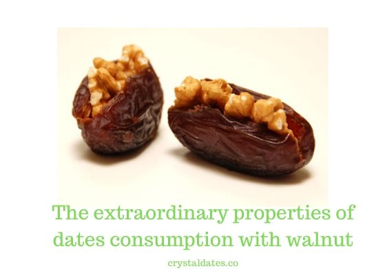 The extraordinary properties of dates consumption with walnut